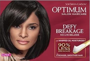 Optimum Salon Hair Care Defying Breakage No-Lye Relaxer Super
